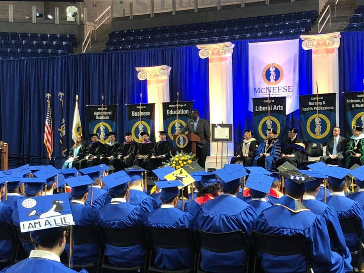 McNeese graduation ceremony held on campus after 33 years