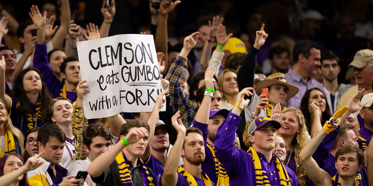Here's how many people watched LSU dominate Clemson