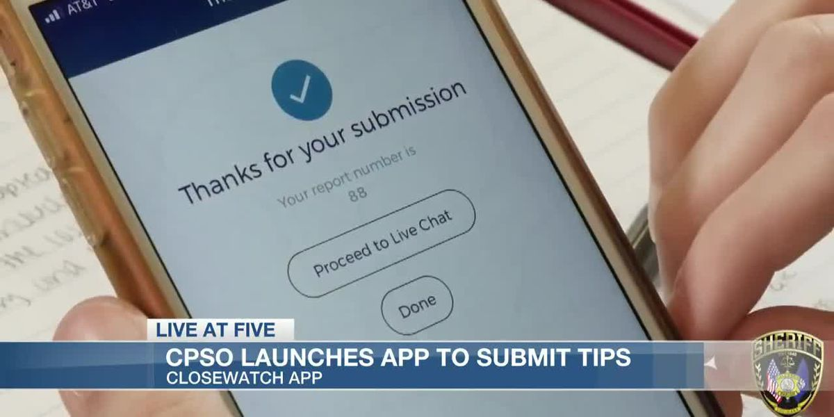 Calcasieu Parish Sheriff's Office launches app to submit anonymous tips