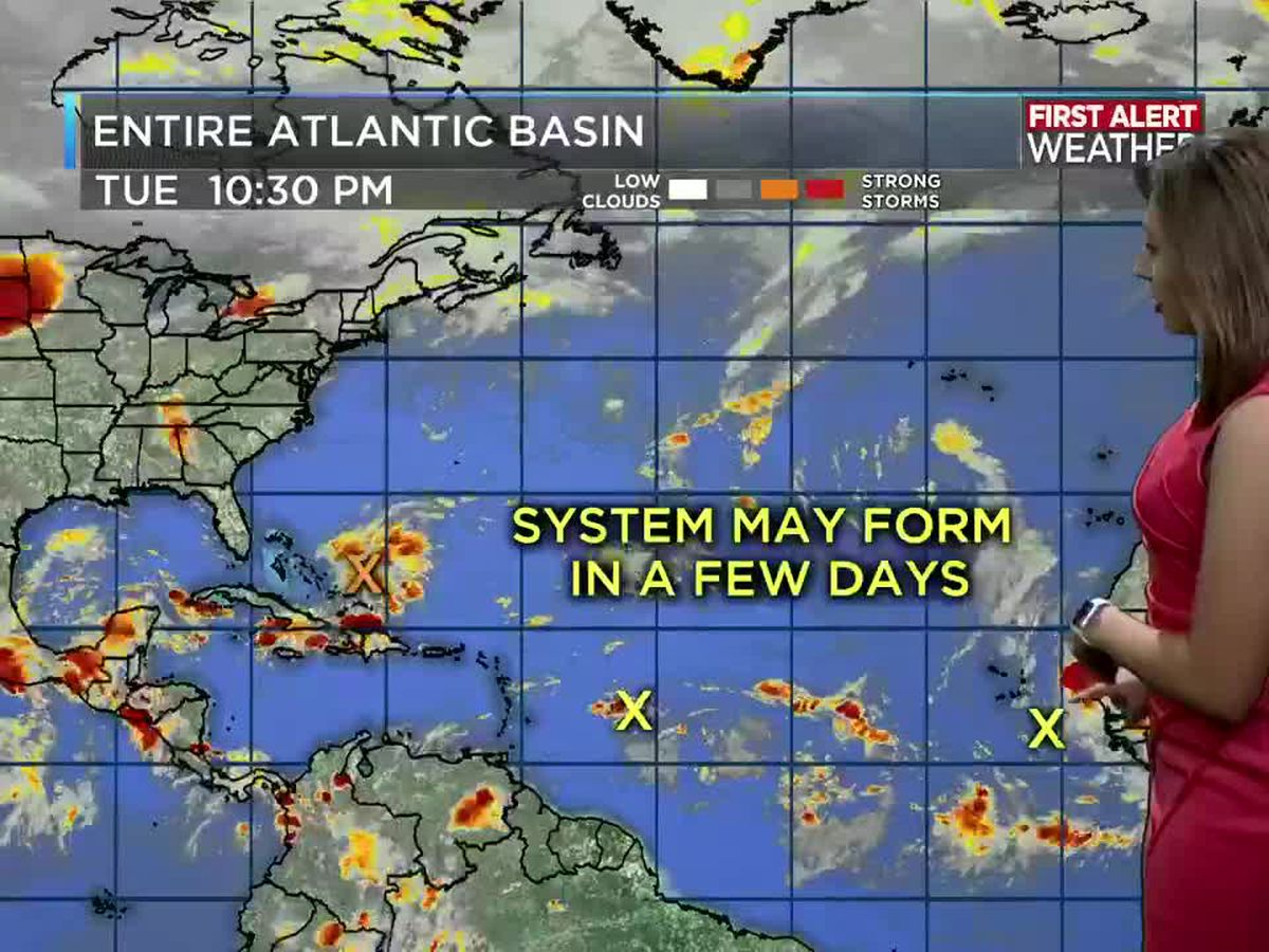 First Alert Forecast: Tracking 95 L into the weekend