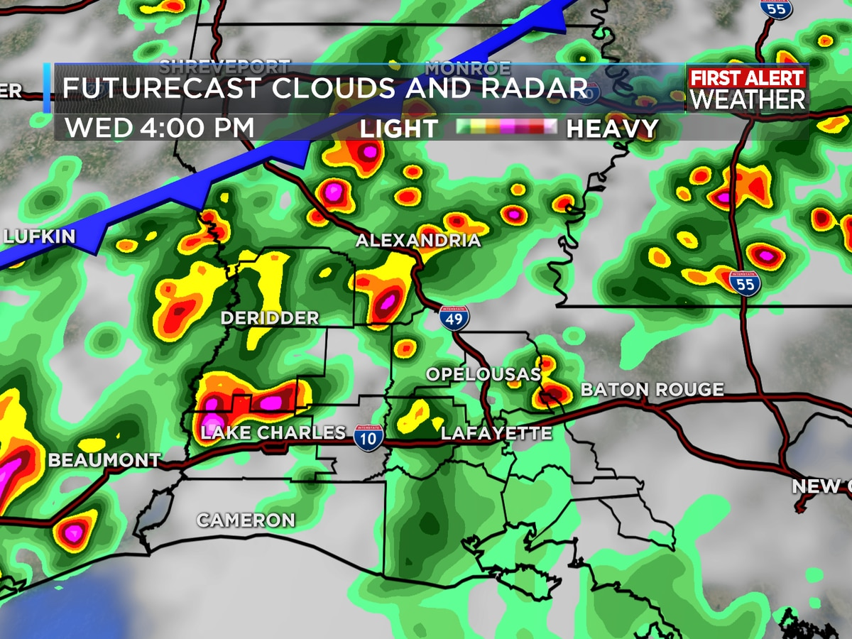 FIRST ALERT FORECAST: Rain returns as front approaches; unsettled through the weekend