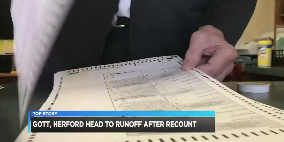 Gott, Herford remain headed for runoff after official recount in Beauregard Sheriff race