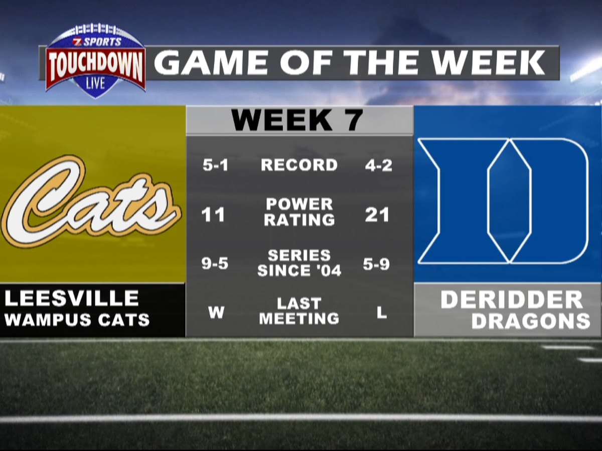 Leesville at DeRidder named week seven TDL Game of the Week