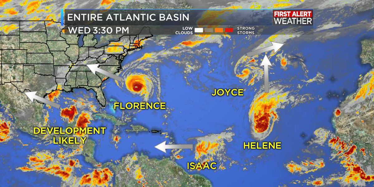 Tropics Update: Four named storms in the Atlantic