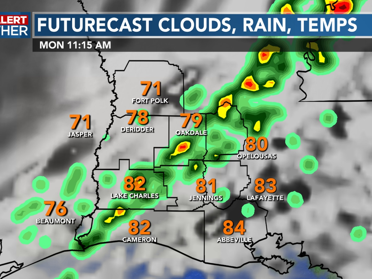 FIRST ALERT FORECAST: A front bring storms for our Monday, but fall like temperatures arrive Tuesday