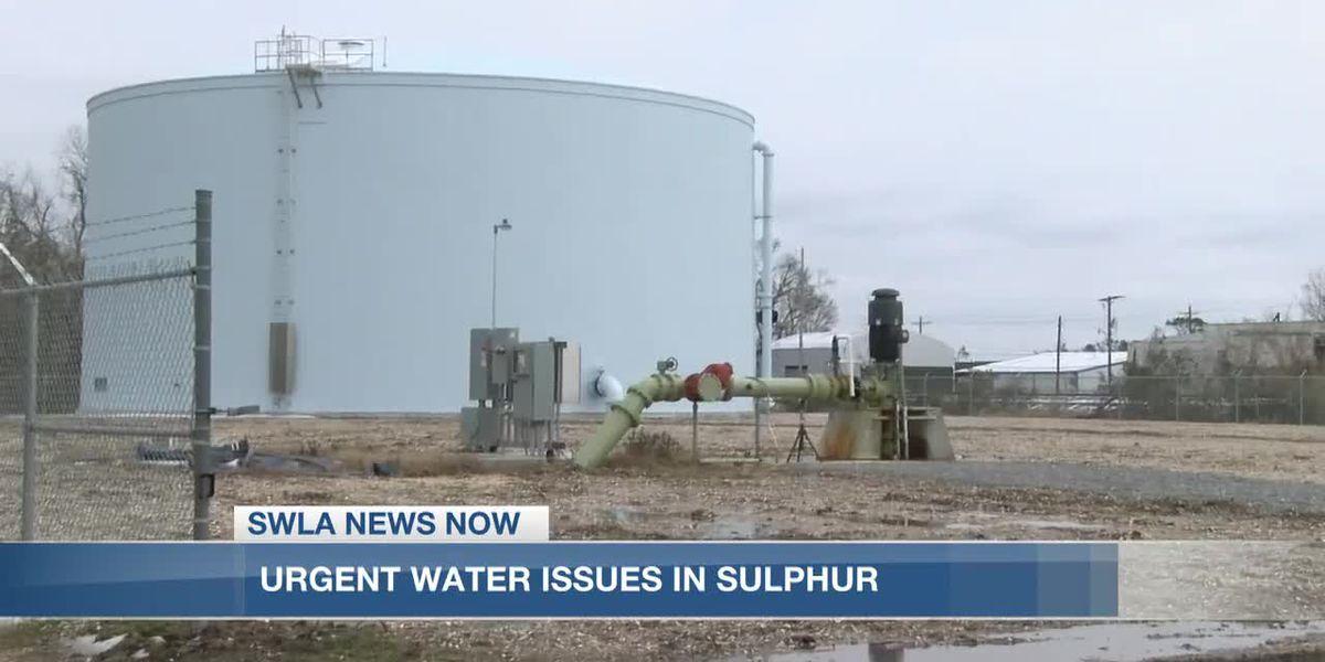 Sulphur Mayor address water issues