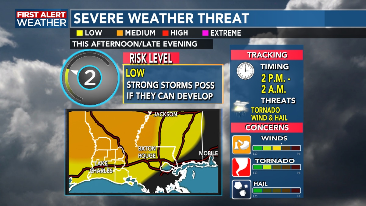 FIRST ALERT FORECAST: Strong storms possible this afternoon, clearing out just in time for weekend