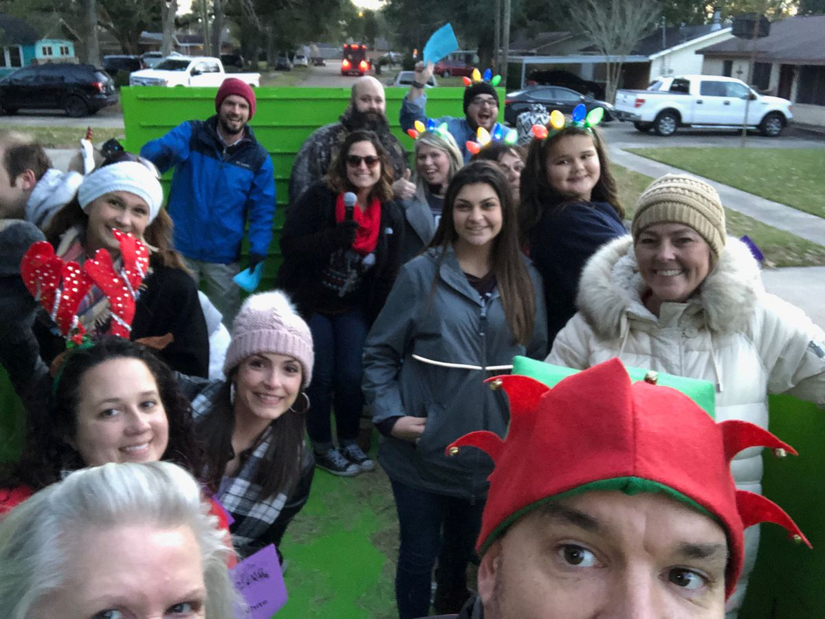 Middle school teachers go caroling
