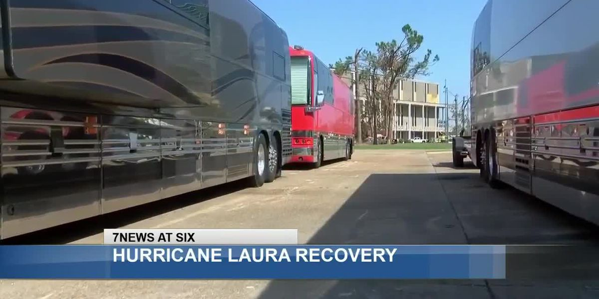 Luxury tour bus company brings shelter to Lake Area crews