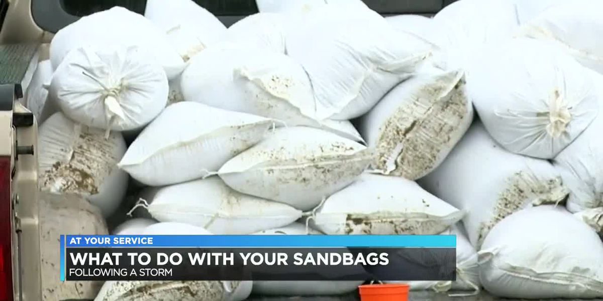 What to do with used sandbags after flooding