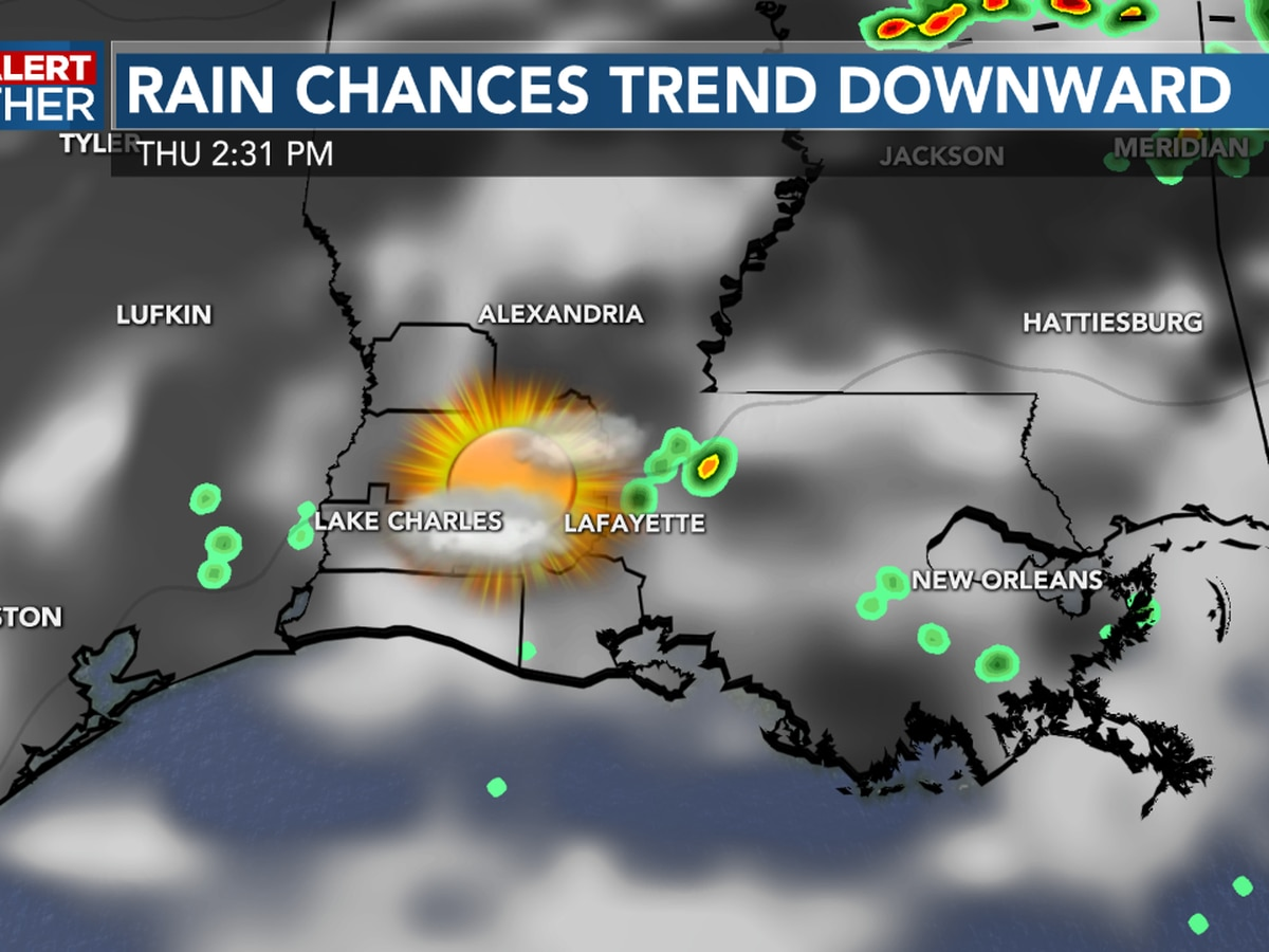 FIRST ALERT FORECAST: Hotter days with less rain around until the weekend; tropics stay active