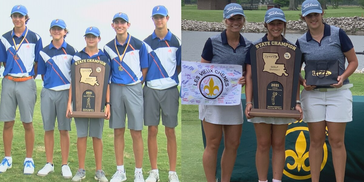 St. Louis boys and Barbe girls bring home golf state titles