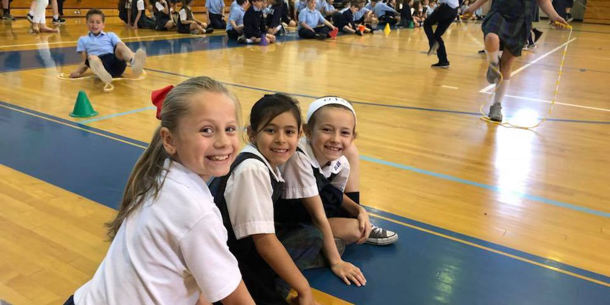 Students at Our Lady Queen of Heaven raise money for the American Heart Association