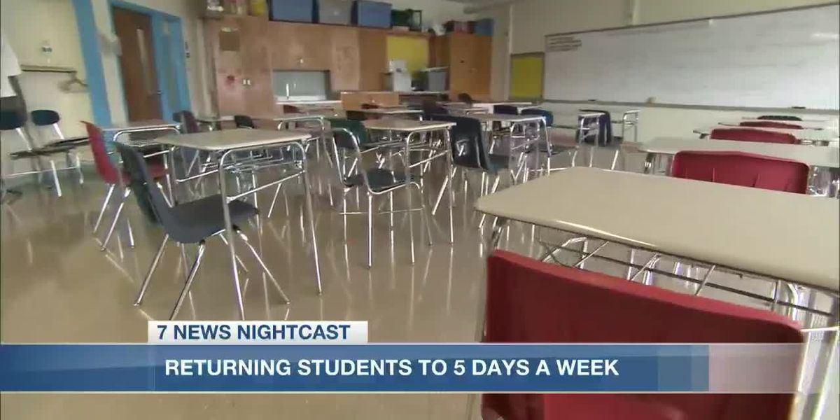Calcasieu Parish School Board sending in-person students back to five days a week
