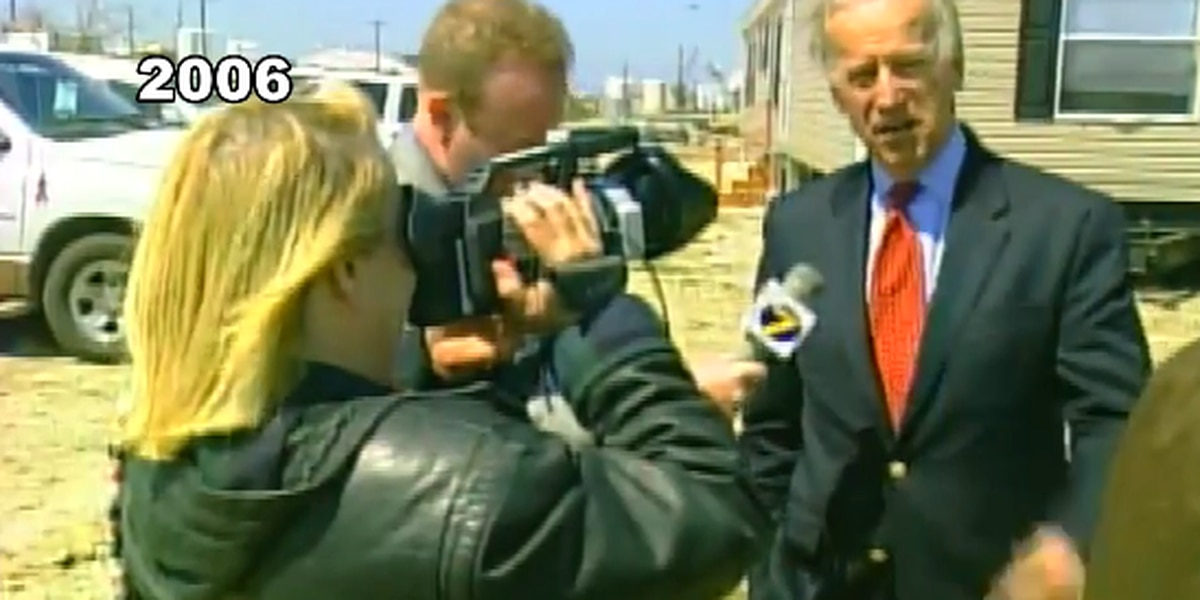 Joe Biden visited SWLA in 2006 to see Hurricane Rita damage