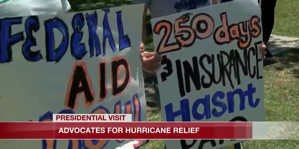 Advocates ask for hurricane relief during Pres. Biden's visit to Lake Charles