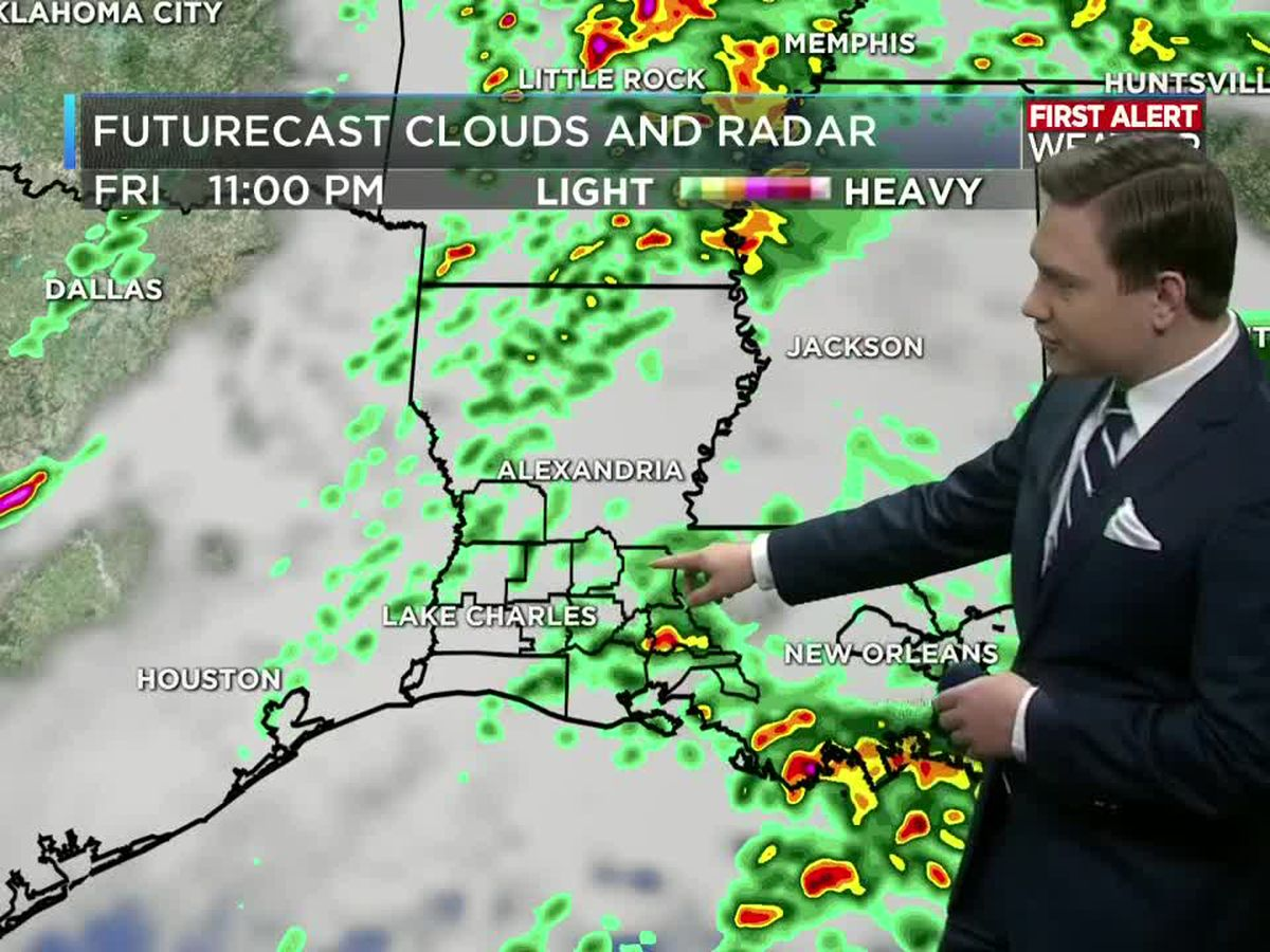 First Alert Forecast: Some strong to severe storms tonight, then a nice weekend ahead