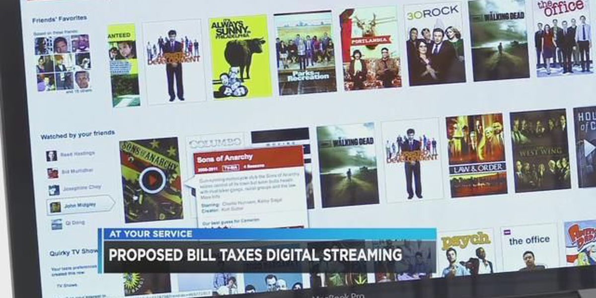 Proposed bill would add sales tax to digital streaming services