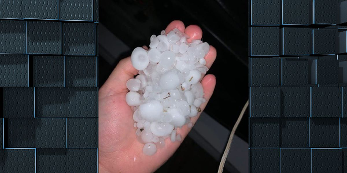 Hail and heavy rain across SWLA causes road closures and power outages