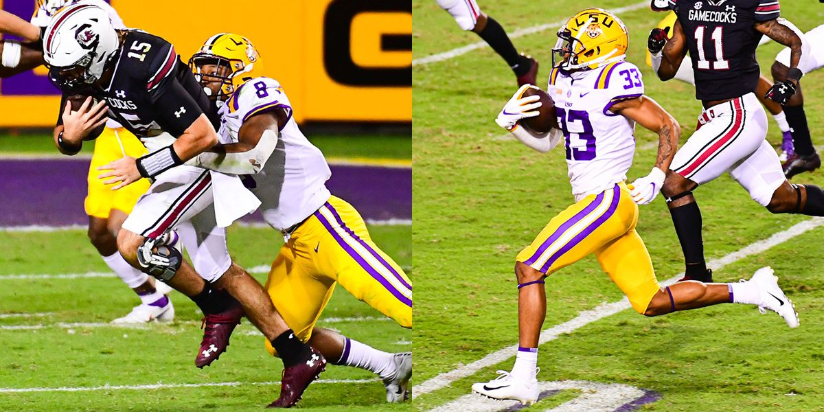 LSU DE BJ Ojulari and KR Trey Palmer named SEC Players of the Week