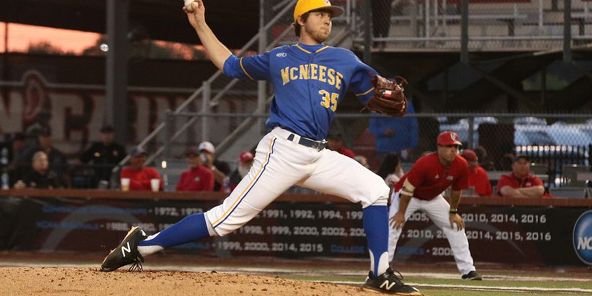 McNeese pitcher Cayne Ueckert drafted by the Chicago Cubs