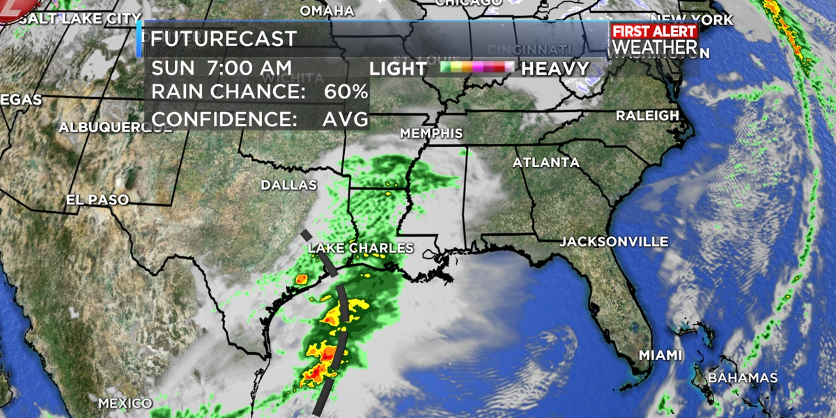 FIRST ALERT FORECAST: Rain returns this weekend, and more rounds likely next week too