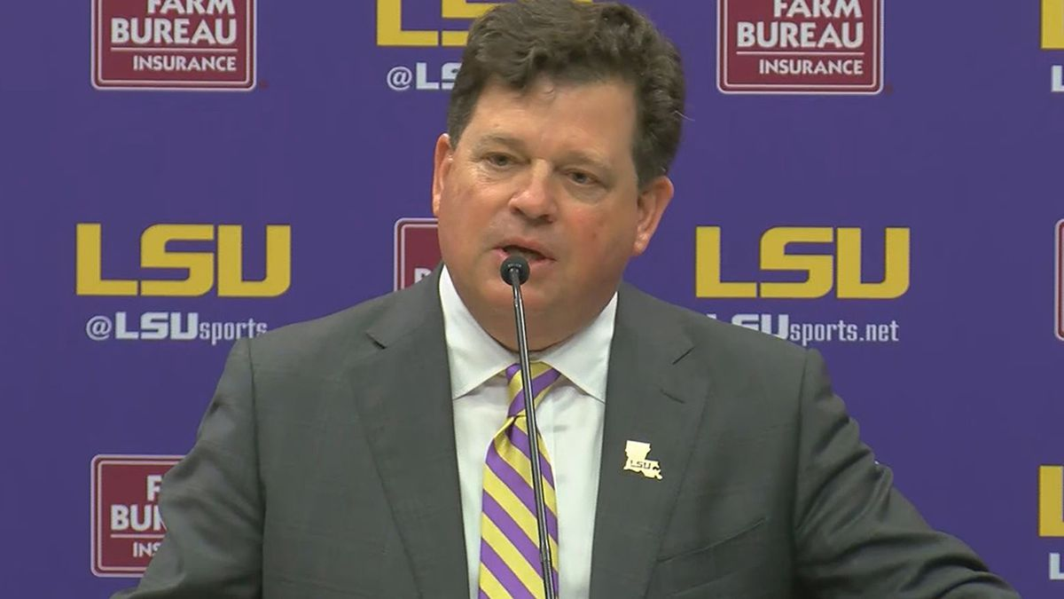 LSU officially introduces Scott Woodward as new athletic director