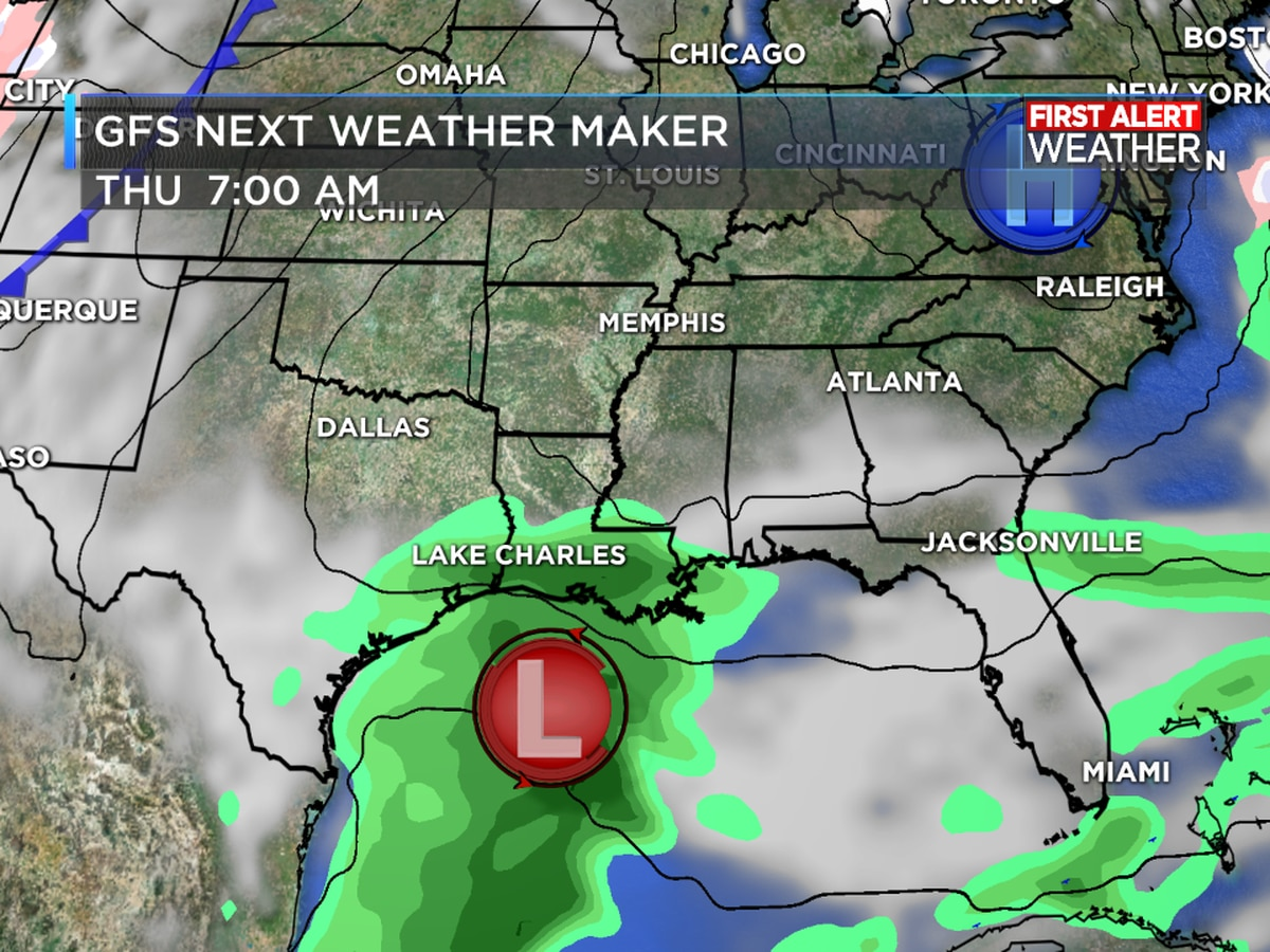 FIRST ALERT FORECAST: Rain chances up through this week