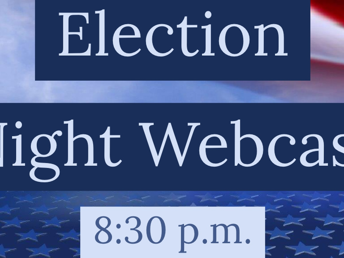 ELECTION 2019: 8:30 p.m. Webcast