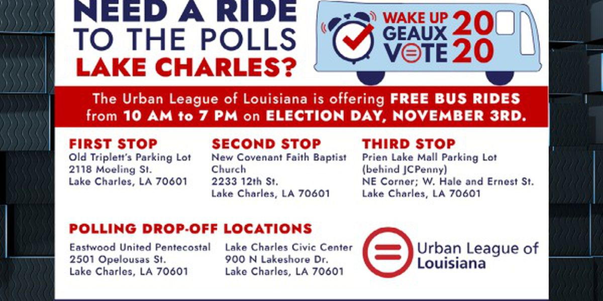 Urban League of Louisiana offering free bus rides to polling locations