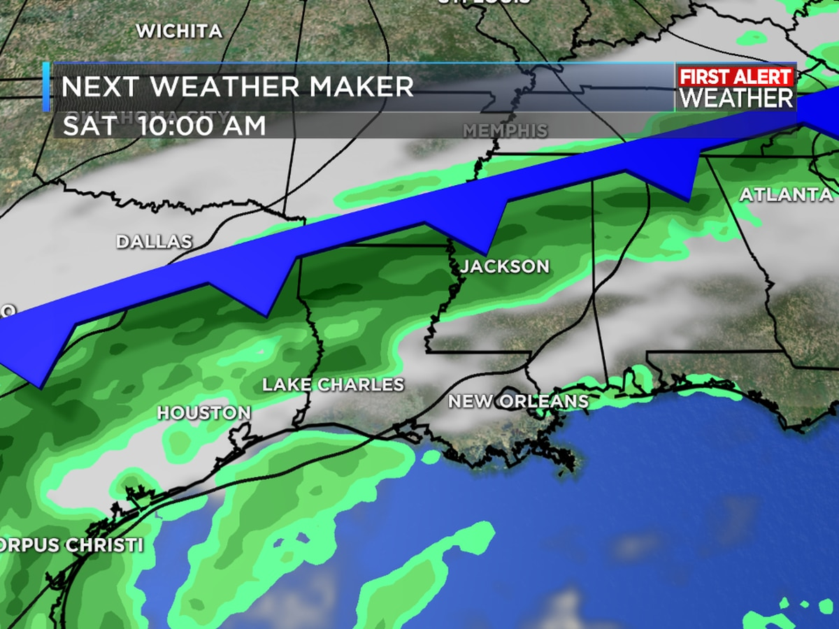 FIRST ALERT FORECAST: Warming up with a few showers possible through Saturday