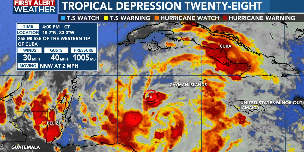 Tropical Depression Twenty-Eight forms, becoming Zeta into Sunday
