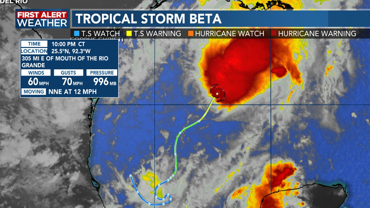 FIRST ALERT FORECAST: Tropical Storm Beta has formed in the Gulf