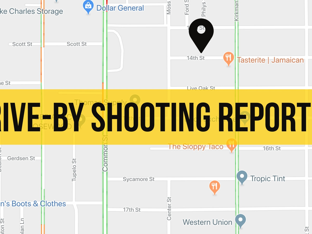 Drive-by shooting on 14th Street reported this afternoon