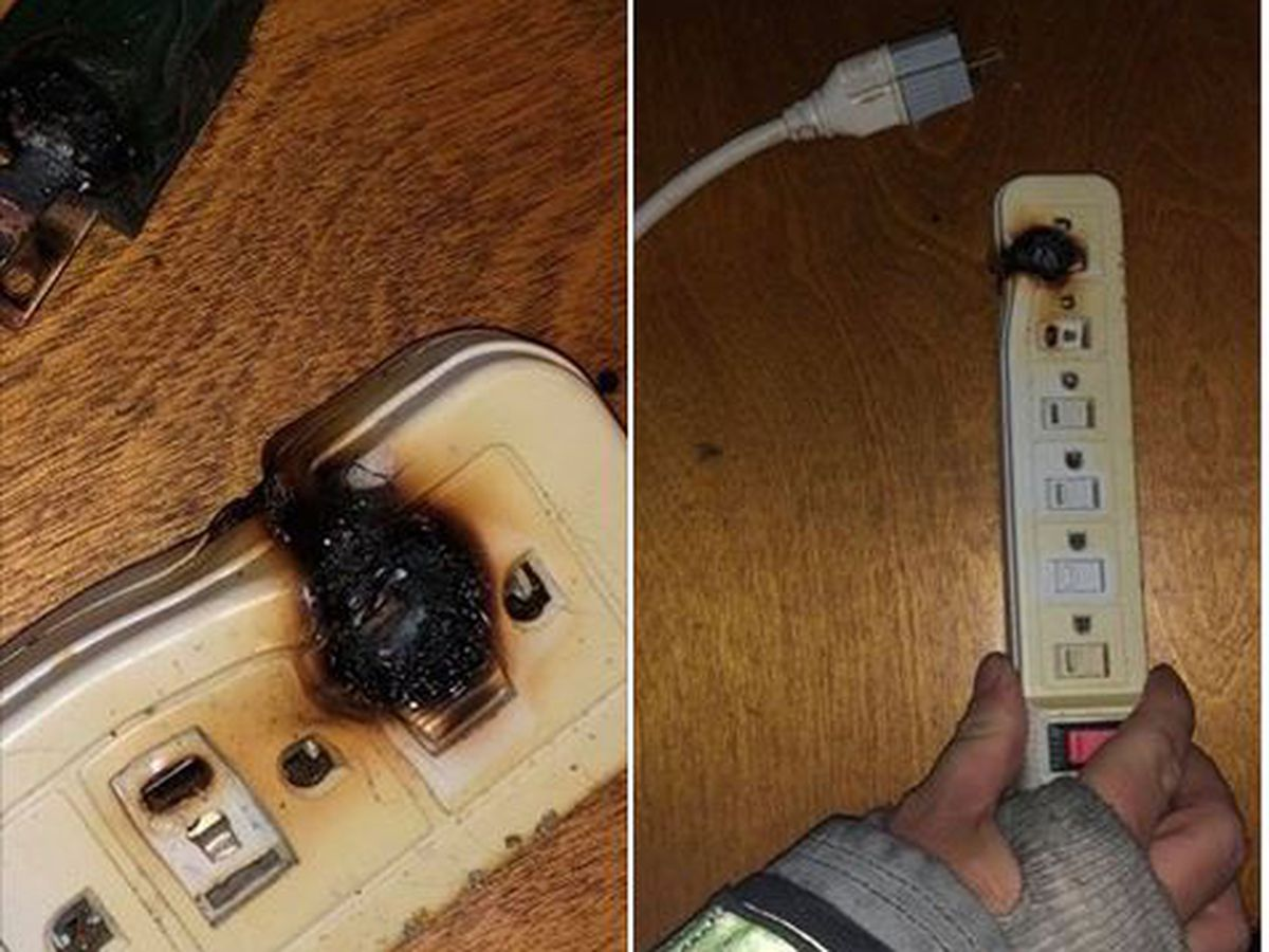 Burning surge protector could have been tragic