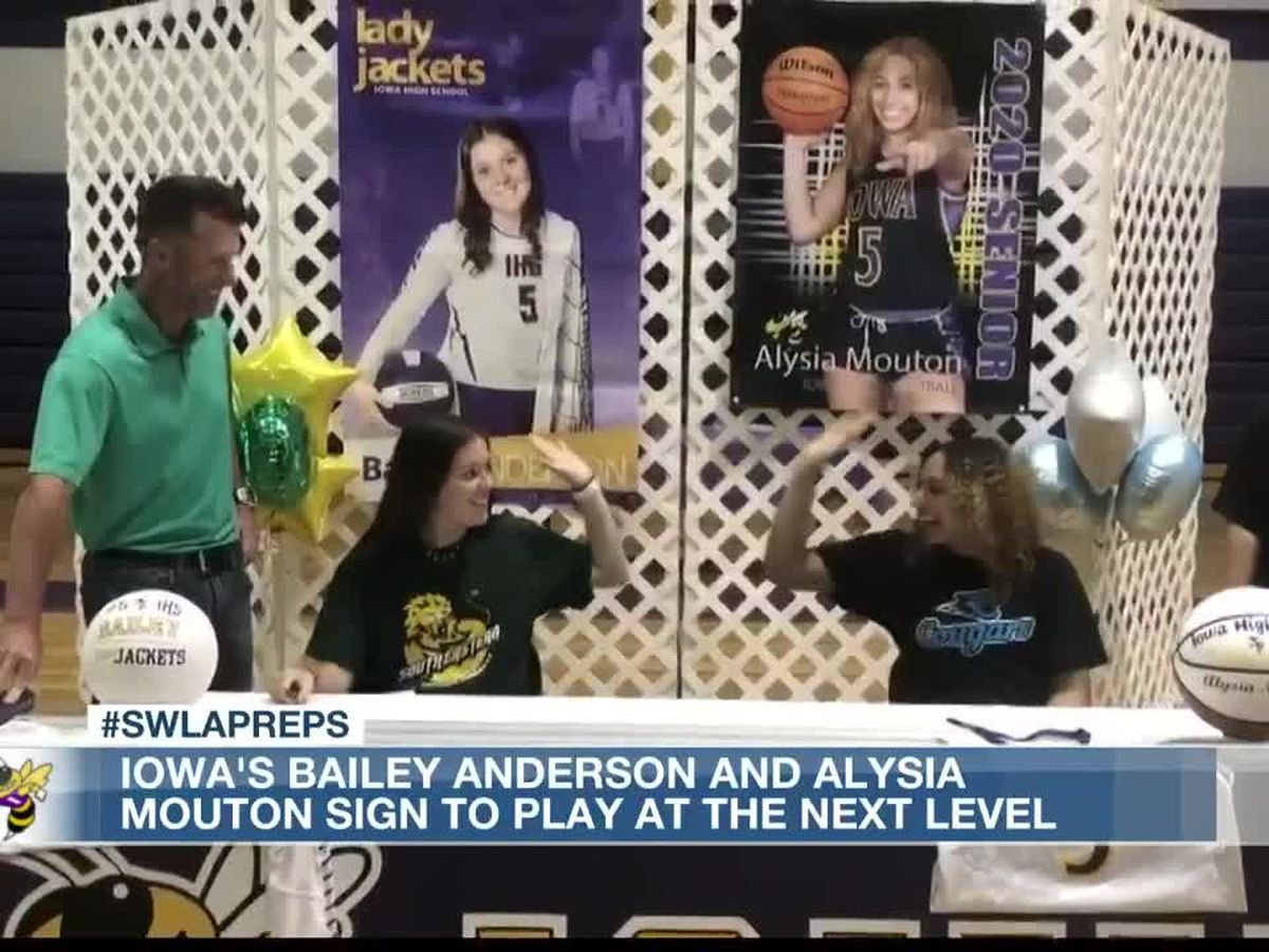 Iowa's Bailey Anderson and Alysia Mouton sign to play college sports