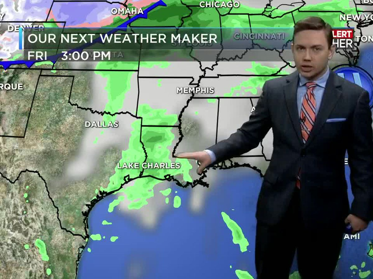 First Alert Forecast: Plenty of sunshine for a few days before the rain returns this weekend