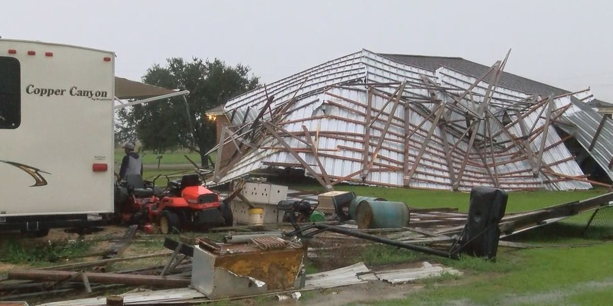 High winds from early morning storm cause damage across parts of Southwest Louisiana