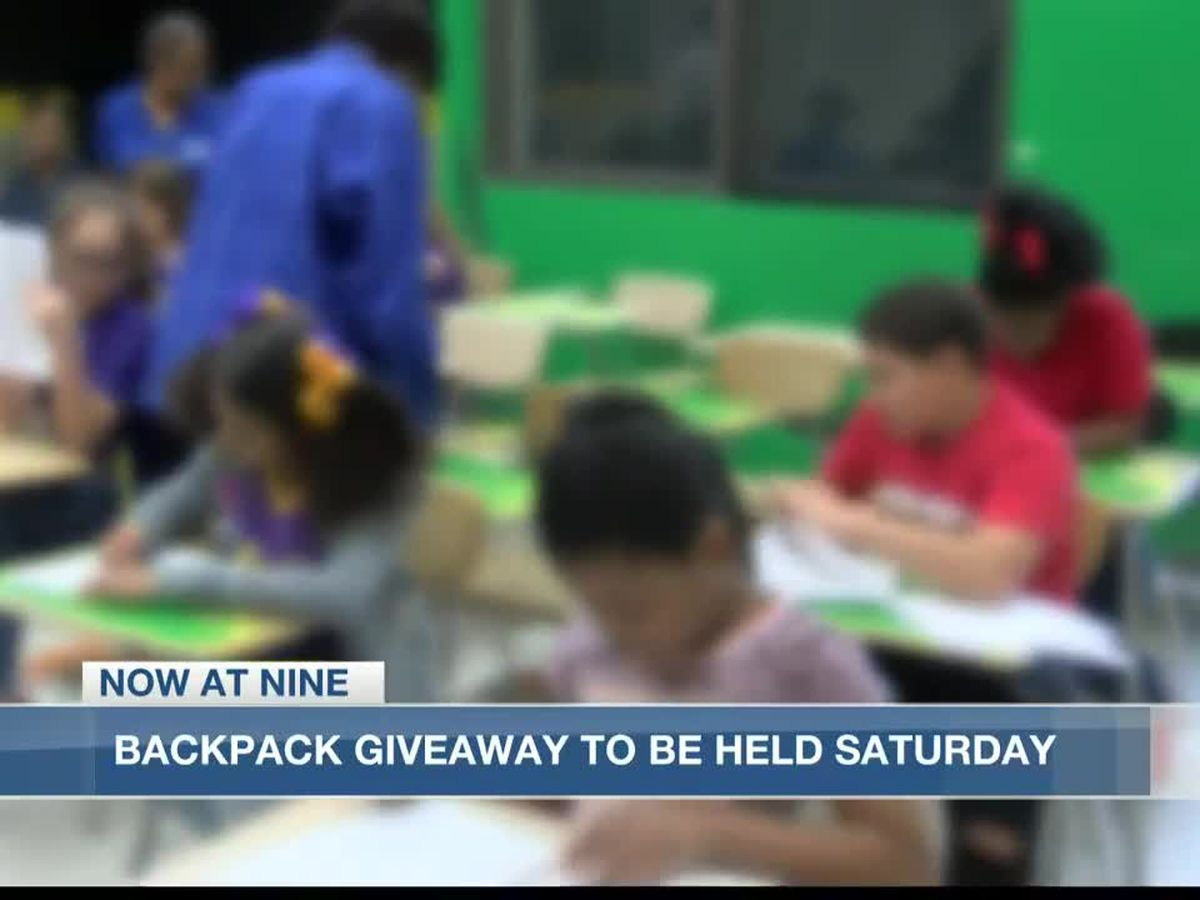 Backpack giveaway planned for Saturday Aug. 8