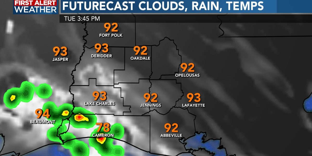 FIRST ALERT FORECAST: Sunny and hot with a hit or miss storm each afternoon