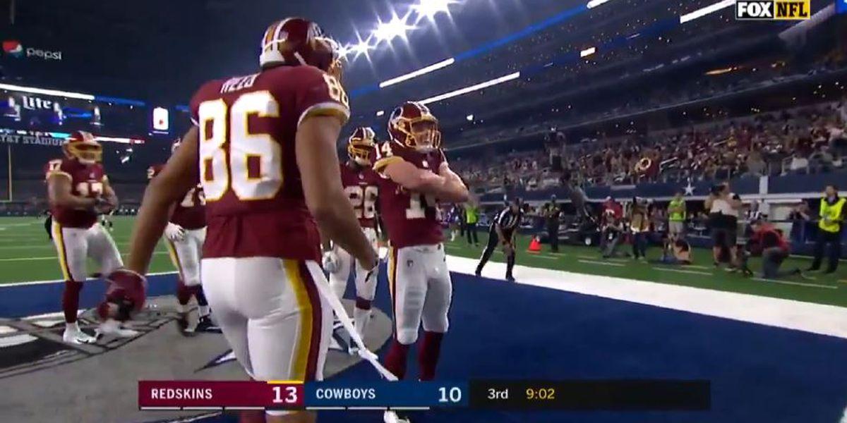 Barbe alum Trey Quinn catches first career NFL touchdown