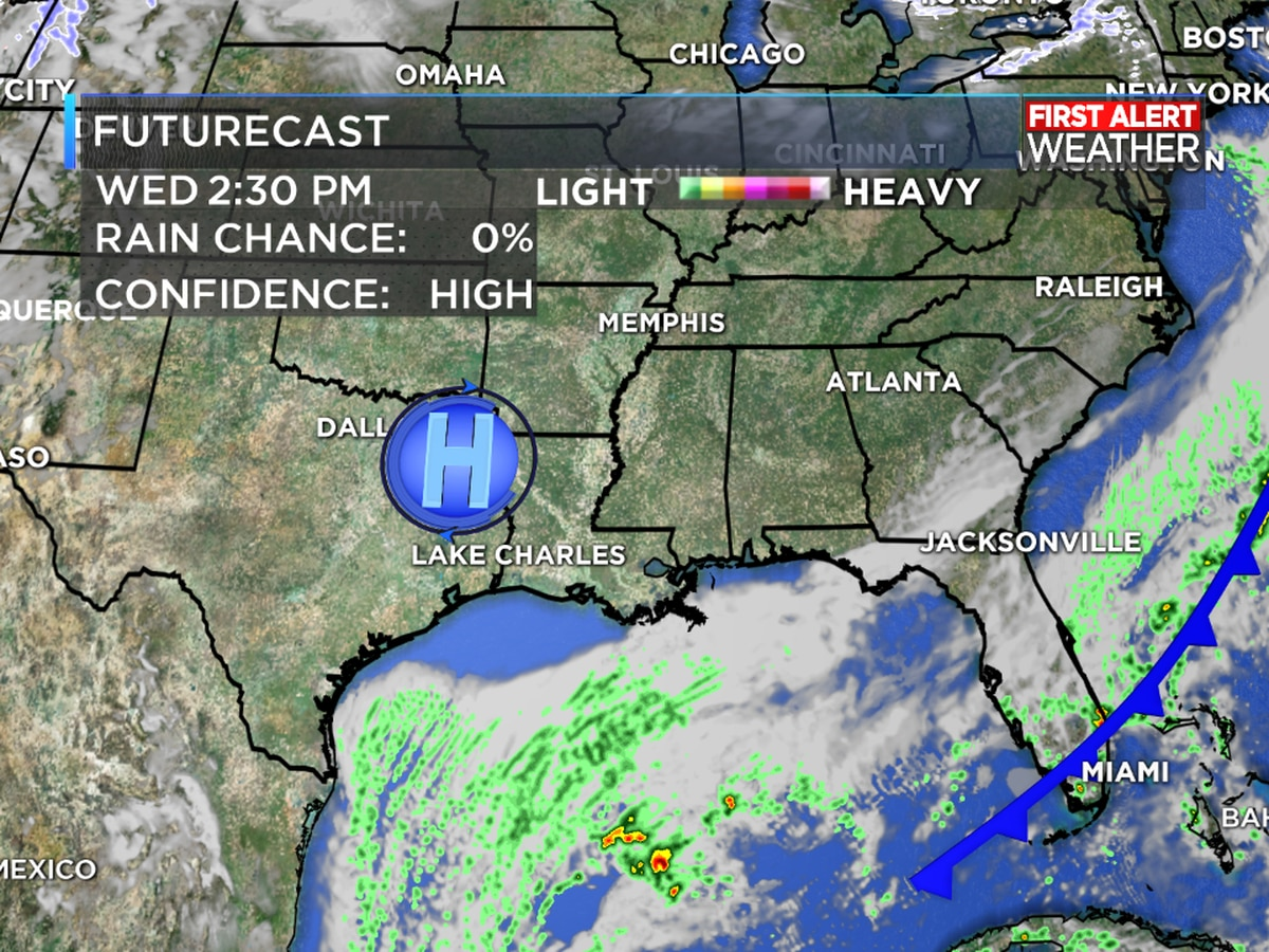 FIRST ALERT FORECAST: Rain ending tonight but you will need a jacket for a few more days