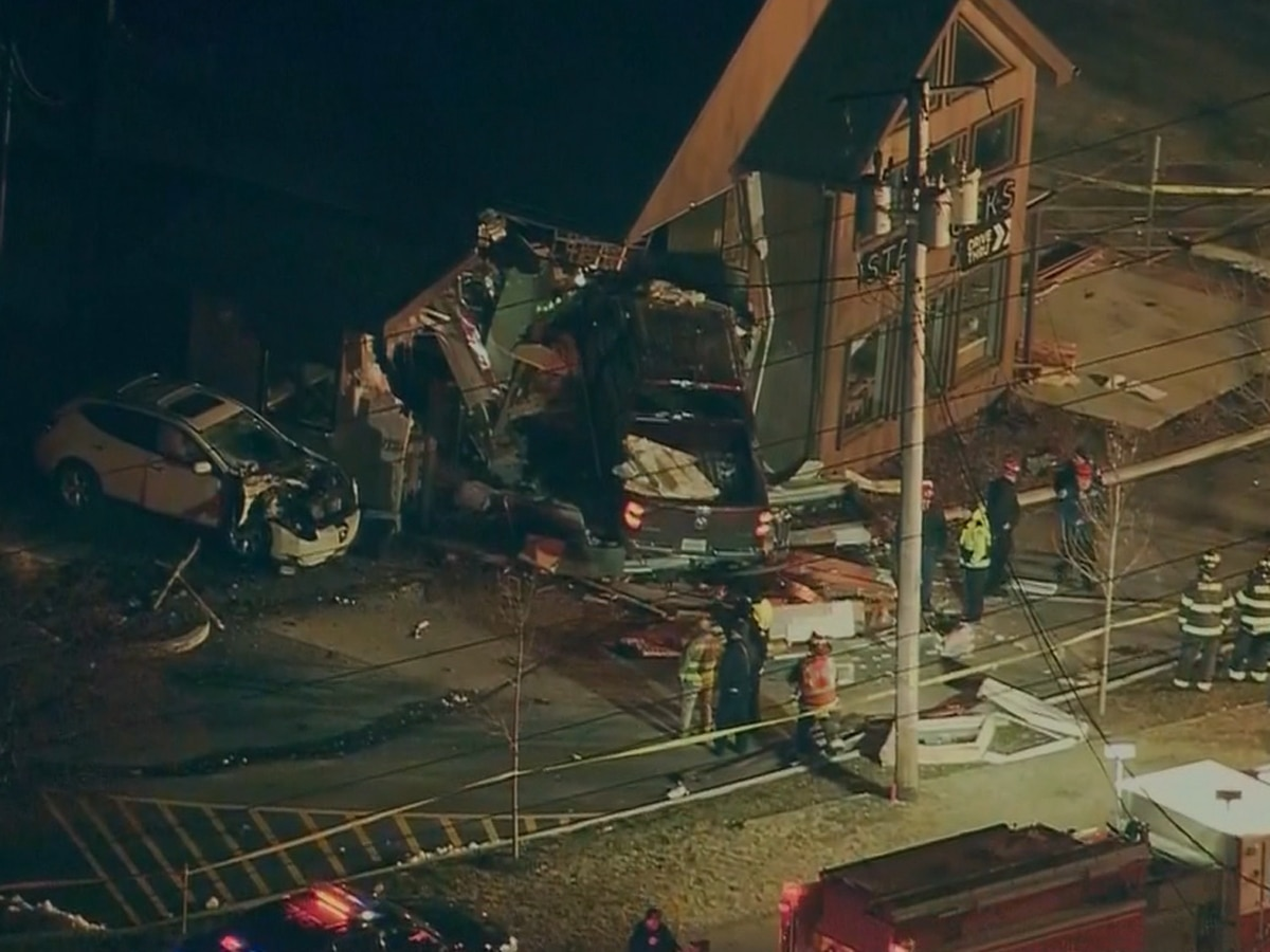 Truck slams into Illinois Starbucks; 4 sent to hospitals
