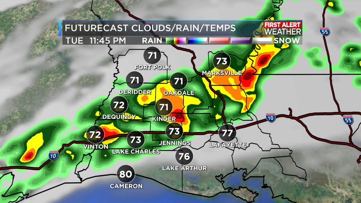 FIRST ALERT FORECAST: Warm front brings more scattered storms; cold front arrives early Wednesday