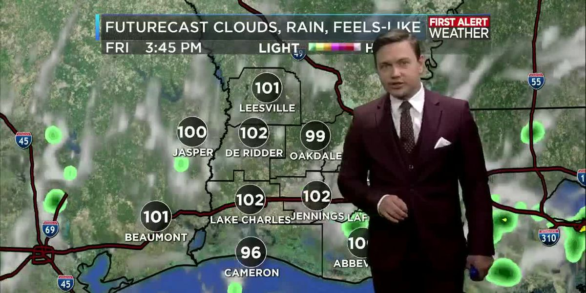 First Alert Forecast: Heat remains the same with rain chances increasing by this weekend