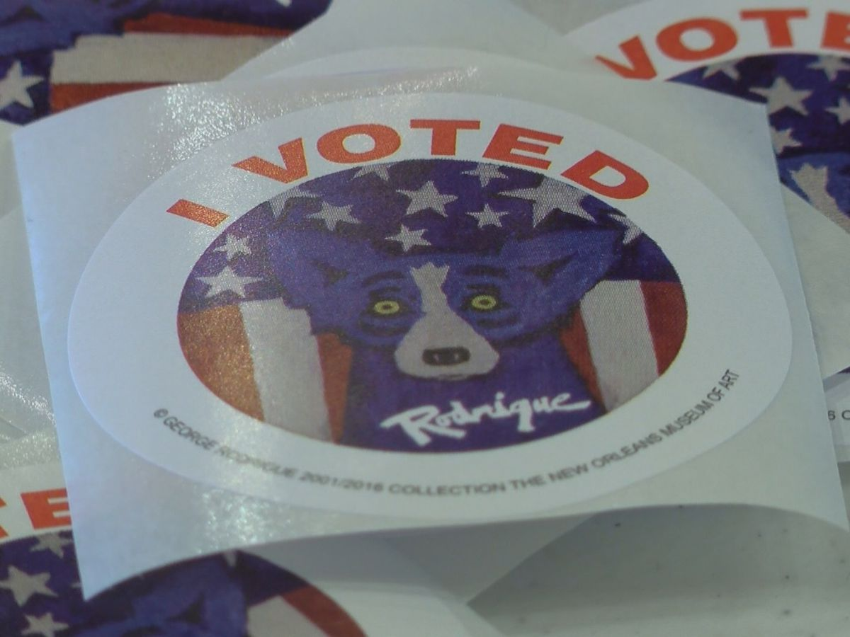New Louisiana 'I Voted' sticker released