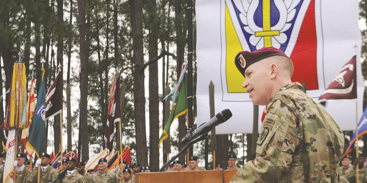 Change of command at Fort Polk
