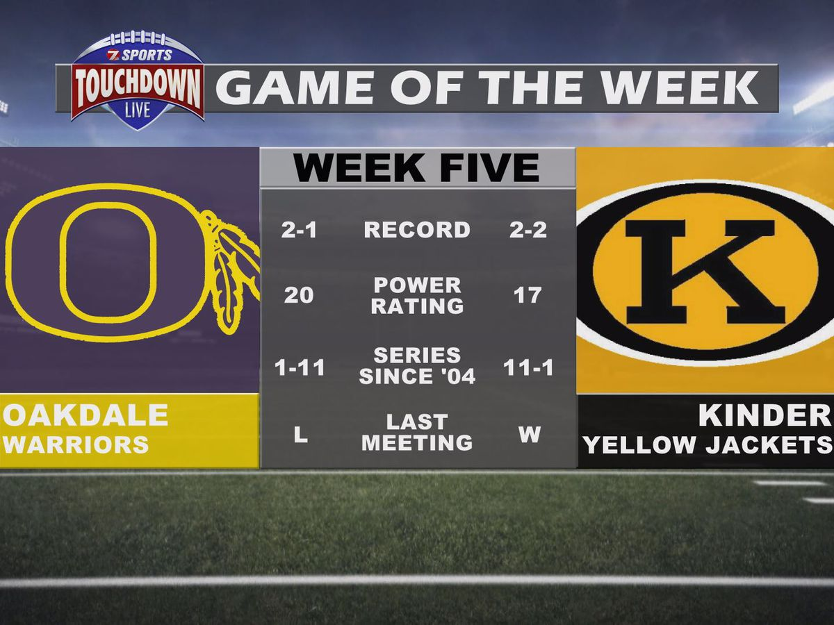 Oakdale at Kinder named week five TDL Game of the Week