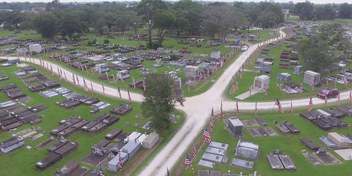 Lake Charles recognizes memorial day with largest display of casket flags in the United States