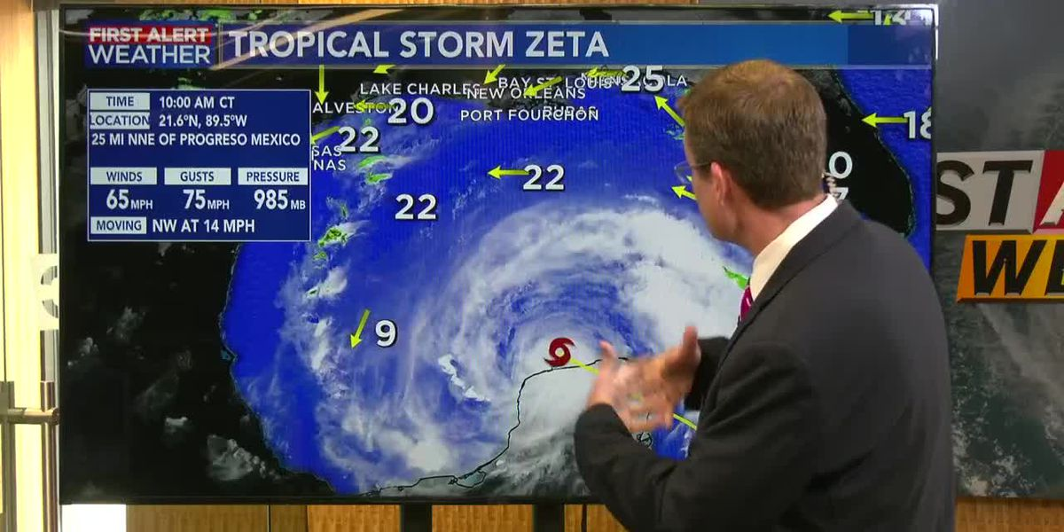 FIRST ALERT FORECAST: Zeta moves into the Gulf but is no threat to SW Louisiana